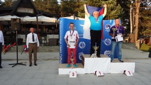 Konrad Żurowski na podium Mistrzostw Świata w klasie F1E 2015